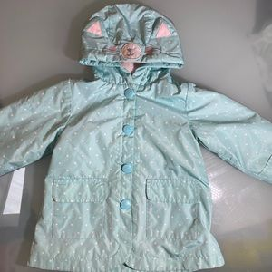 Carter's fleece lined cat rain jacket